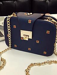 abordables -Mujer Bolsos PU Teléfono Móvil Bolsa Cremallera Negro / Beige / Azul Oscuro