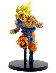 economico -Figure Anime Azione Ispirato da Dragon Ball Son Goku PVC 22 cm CM Giocattoli di modello Bambola giocattolo