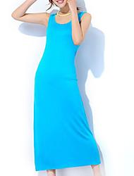 preiswerte -Damen U-Ausschnitt Satin & Seide Pyjamas Solide