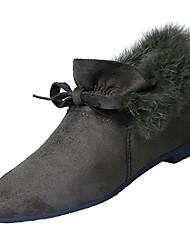 billiga -Dam Fashion Boots Mocka Höst Ledigt Stövlar Platt klack Korta stövlar / ankelstövlar Rosett Svart / Brun / Armégrön