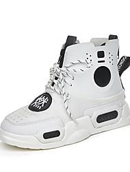 Недорогие -Жен. Обувь Замша Осень Удобная обувь Кеды На плоской подошве Белый / Черный / Лиловый