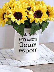 baratos -Flores artificiais 6 Ramo Clássico / Solteiro (L150 cm x C200 cm) Estiloso / Pastoril Estilo Girassóis Flor de Mesa