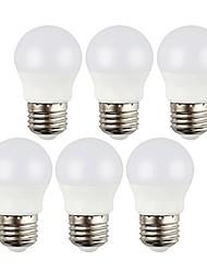 preiswerte -6pcs 3 W 400 lm E26 / E27 LED Kugelbirnen 6 LED-Perlen SMD 5050 Dekorativ Warmes Weiß / Kühles Weiß 220-240 V