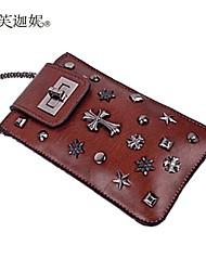 abordables -Femme Sacs PU Mobile Bag Phone Boutons Jaune / Marron