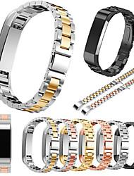 Недорогие -Ремешок для часов для Fitbit Alta Fitbit Классическая застежка Нержавеющая сталь Повязка на запястье