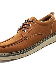 Недорогие -Муж. Легкие подошвы Замша Осень На каждый день Туфли на шнуровке Доказательство износа Черный / Бежевый / Коричневый