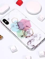 Недорогие -Кейс для Назначение Apple iPhone XR / iPhone XS Max С узором Кейс на заднюю панель Мрамор Мягкий ТПУ для iPhone XS / iPhone XR / iPhone XS Max