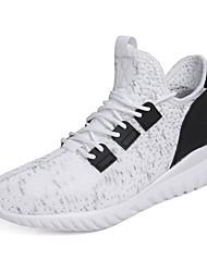 abordables -Homme Chaussures de confort Maille Automne Sportif Chaussures d'Athlétisme Marche Augmenter la hauteur Blanc / Noir / Gris