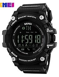 Недорогие -SKMEI Муж. Жен. Спортивные часы электронные часы Цифровой Черный / Красный 30 m Защита от влаги Bluetooth Календарь Цифровой На каждый день Мода - Черный Красный Синий / Секундомер