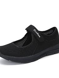 Недорогие -Жен. Комфортная обувь Сетка Лето Спортивные Спортивная обувь Для фитнеса На плоской подошве Круглый носок Темно-серый / Светло-серый / Винный