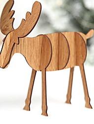 Недорогие -Рождество Праздник деревянный Для вечеринок Рождественские украшения
