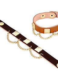 cheap -Women's Retro / Link / Chain Vintage Bracelet / Leather Bracelet - Creative Stylish, Vintage, Elegant Bracelet Beige / Brown For Gift / Daily