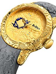 Недорогие -Муж. Спортивные часы Наручные часы Японский Японский кварц силиконовый Черный / Серый 30 m Повседневные часы Cool Аналоговый Роскошь Мода - Золотой Черный Один год Срок службы батареи