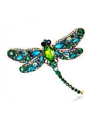 cheap -Women's Vintage Style Brooches - Gold Plated Dragonfly, Animal Unique Design, Vintage Brooch Light Green / Champagne / Dark Green For Evening Party / Street