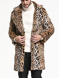 economico -Cappotto di pelliccia Per uomo Essenziale / Moda città - Leopardata Con stampe