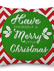 Недорогие -Наволочка Праздник Хлопковая ткань Прямоугольный Оригинальные Рождественские украшения