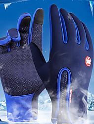 Недорогие -Спортивные перчатки Перчатки для велосипедистов / Перчатки для сенсорного экрана С защитой от ветра / Водонепроницаемость / Сохраняет тепло Полный палец Лайкра спандекс Велосипедный спорт / Велоспорт