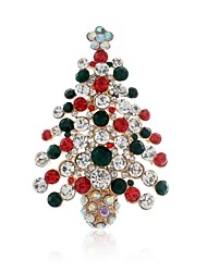 cheap -Women's Classic Brooches - Christmas Tree Stylish, Classic Brooch Gold For Christmas