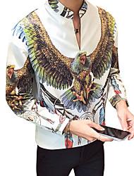cheap -Men's Shirt - Color Block Classic Collar / Long Sleeve
