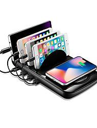 baratos -estação de carregamento sem fio para smartphones e tablets - suporte rápido carregador sem fio, 2 em 1 carregador USB e teclado de carregamento sem fio (preto)