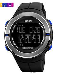 Недорогие -SKMEI Муж. Жен. Спортивные часы электронные часы Цифровой 30 m Защита от влаги Календарь Секундомер силиконовый Группа Цифровой На каждый день Черный / Зеленый - Серебряный Красный Синий