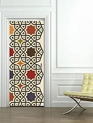 Недорогие -Дверные наклейки - 3D наклейки Геометрия / Религиозная тематика Гостиная / Спальня
