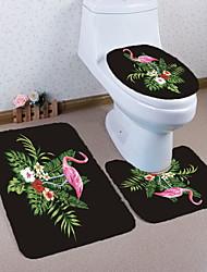 Недорогие -3 предмета Modern Коврики для ванны 100 г / м2 полиэфирный стреч-трикотаж Животное нерегулярный Ванная комната Новый дизайн / обожаемый