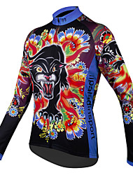 ILPALADINO Women s Long Sleeve Cycling Jersey - Rainbow Rainbow Leopard  Floral   Botanical Plus Size Bike Jersey Top Breathable Quick Dry Sports  100% ... fc39b6edc