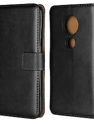 abordables -Coque Pour Motorola Moto G6 Plus / G5 Portefeuille / Porte Carte / Avec Support Coque Intégrale Couleur Pleine Dur Cuir véritable pour Moto Z2 play / Moto X4 / MOTO G6