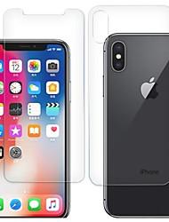 Недорогие -AppleScreen ProtectoriPhone X HD Защитная пленка для экрана и задней панели 2 штs Закаленное стекло
