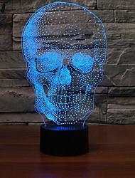 billiga -1st 3D nattlampa Ändring USB Häftig / Färggradient 5 V