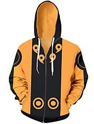 billiga Cosplay till vardagen-Naruto Naruto Uzumaki Huvtröja Terylen Till Unisex