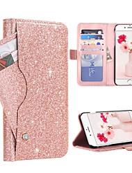 Недорогие -BENTOBEN Кейс для Назначение Apple iPhone XR / iPhone XS Max Бумажник для карт / Защита от удара / Флип Чехол Сияние и блеск Твердый Кожа PU / ПК для iPhone XR / iPhone XS Max