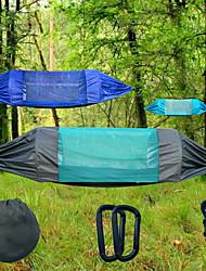 Недорогие -Туристический гамак с москитной сеткой На открытом воздухе Легкость, Воздухопроницаемость, Устойчивость к УФ Нейлон, Оксфорд для Пешеходный туризм / Пляж / Походы - 2 человека