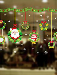 abordables -Film de fenêtre et autocollants Décoration Fleur / Noël Fleur / Personnage PVC Autocollant de Fenêtre / Adorable / Drôle
