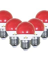 abordables -EXUP® 5pcs 5 W 450 lm E26 / E27 Ampoules Globe LED G45 12 Perles LED SMD 2835 Mignon / Soirée / Décorative Rouge 220-240 V / 110-130 V