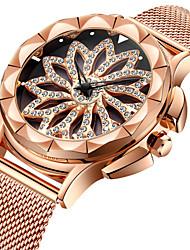 baratos -Mulheres Relógio de Pulso Japanês Quartzo Japonês 30 m Relógio Casual Legal Aço Inoxidável Banda Analógico Luxo Fashion Ouro Rose - Ouro Rose Um ano Ciclo de Vida da Bateria