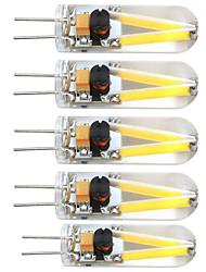 Недорогие -5 шт. 2 W 380 lm G4 Двухштырьковые LED лампы T 2 Светодиодные бусины COB Декоративная Тёплый белый 12 V