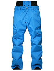 Недорогие -Муж. Лыжные брюки С защитой от ветра, Водонепроницаемость, Дожденепроницаемый Горные лыжи / Зимние виды спорта Хлопок, Полиэфир Тёплые брюки Одежда для катания на лыжах / Сохраняет тепло