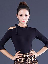 ราคาถูก -ชุดเต้นรำโมเดิร์น เสื้อ สำหรับผู้หญิง Performance น้ำแข็งไหม กระโปรงระบาย ครึ่งแขน Top