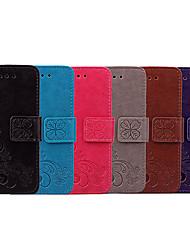 Недорогие -Кейс для Назначение SSamsung Galaxy S8 Бумажник для карт / Флип Чехол Однотонный / Мандала Мягкий Кожа PU для S8