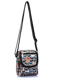 cheap -Women's Bags Nylon Mobile Phone Bag Pattern / Print Floral Print Yellow / Dark Grey / Light Grey