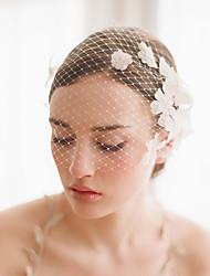 abordables -Une couche Style vintage / Style classique Voiles de Mariée Voiles Blush avec Pétale / Couleur Unie Tulle