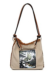 cheap -Women's Bags Nylon Shoulder Bag Pattern / Print Beige