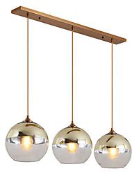 Недорогие -ZHISHU 3-Light Подвесные лампы Потолочный светильник Электропокрытие Металл Стекло Новый дизайн 110-120Вольт / 220-240Вольт Лампочки включены