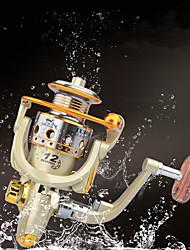 baratos -Molinetes de Pesca Molinetes Rotativos 5.5:1 Relação de Engrenagem+6 Rolamentos Orientação da mão Trocável Pesca de Mar / Isco de Arremesso / Pesca de Isco