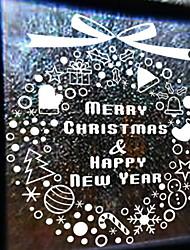 abordables -Film de fenêtre et autocollants Décoration Noël Vacances PVC Cool / Boutique / Café