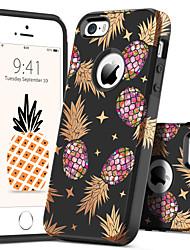 Недорогие -BENTOBEN Кейс для Назначение Apple Кейс для iPhone 5 Защита от удара / С узором Кейс на заднюю панель Растения / Фрукты Твердый ПК для iPhone SE / 5s / iPhone 5