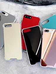 billiga -fodral Till Apple iPhone X / iPhone XS Max Stötsäker / Spegel Skal Enfärgad Hårt Akrylfiber för iPhone XS / iPhone XR / iPhone XS Max