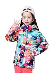 Недорогие -GSOU SNOW Девочки Лыжная куртка С защитой от ветра, Водонепроницаемость, Теплый Катание на лыжах / Зимние виды спорта Полиэфир Верхняя часть Одежда для катания на лыжах